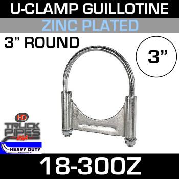 "3"" U-Clamp Guillotine Style Zinc"