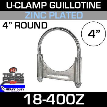 "4"" U-Clamp Guillotine Style Zinc 18-400Z"
