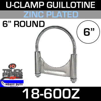"6"" U-Clamp Guillotine Style Zinc"