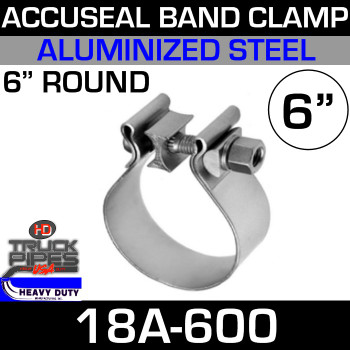 """6"""" AccuSeal Exhaust Clamp - Aluminized 18A-600"""
