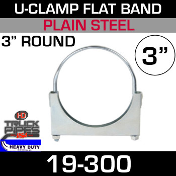 "3"" U-Clamp Flat Band 19-300"