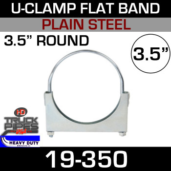 "3.5"" U-Clamp Flat Band 19-350"