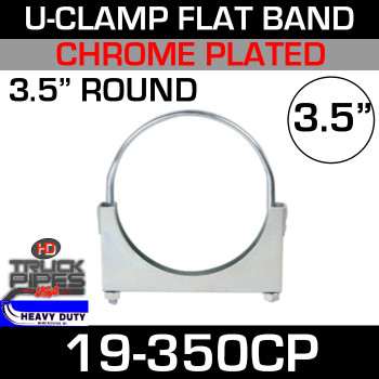 "3.5"" U-Clamp Flat Band Chrome"