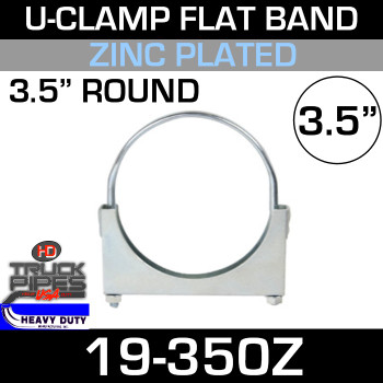 "3.5"" U-Clamp Flat Band Zinc 19-350Z"