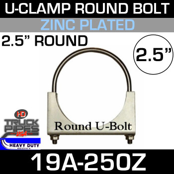 "2.5"" U-Clamp Round Band Zinc 19A-250Z"