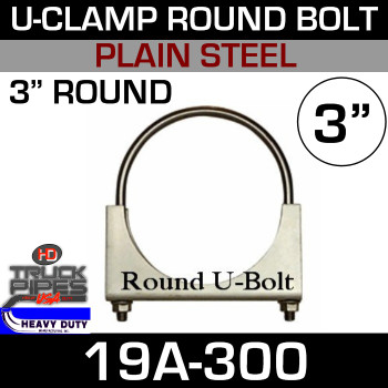 "3"" U-Clamp Round Band 19A-300"