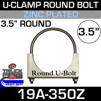 "3.5"" U-Clamp Round Band Zinc"