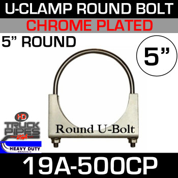 "5"" U-Clamp Round Band Chrome 19A-500CP"