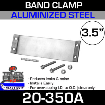 "3.5"" Band Clamp Aluminized 20-350A"