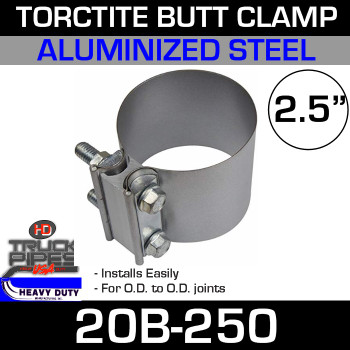 "2.5"" Band Clamp - Aluminized Preformed Butt Joint 20B-250"