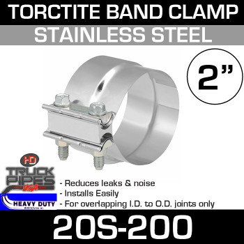 "2"" Band Clamp - Stainless Steel Preformed Clamp"