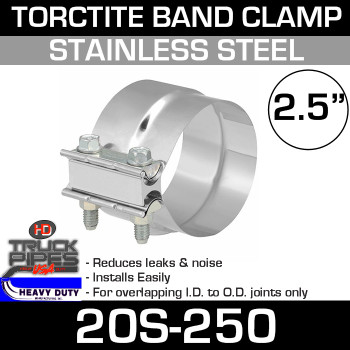 "2.5"" Band Clamp - Stainless Steel Preformed Clamp"