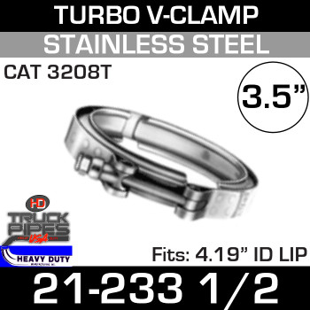 "Turbo V-Clamp for CAT 3208T with 4.19"" ID"