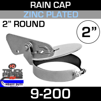 "2"" Exhaust Rain Cap - Zinc Plated"