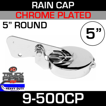 "5"" Exhaust Rain Cap - Chrome Plated"