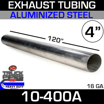"Exhaust Tubing 4"" x 10' Aluminized 10-400A"