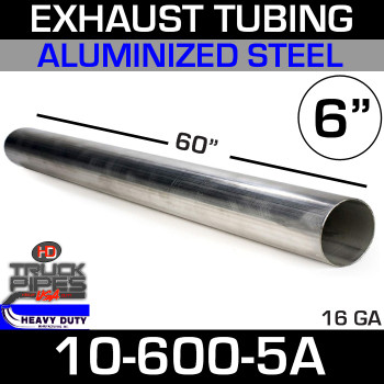 "Exhaust Tubing 6"" x 60"" Aluminized 10-600-5A"