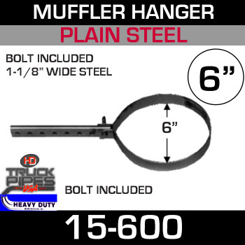 "6"" Round Pipe or Muffler Hanger"