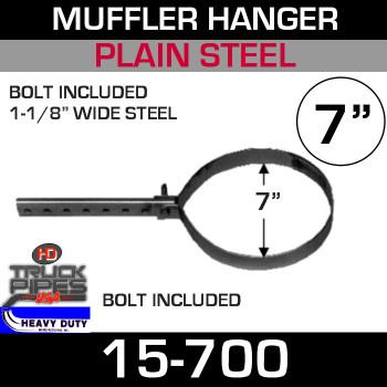 "7"" Round Pipe or Muffler Hanger"
