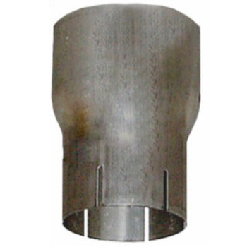 "6"" OD to 5"" ID Exhaust Reducer Aluminized 6"" Long"