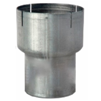 "6"" ID to 5"" OD Aluminized Exhaust Pipe Reducer 6"" Long RO650"