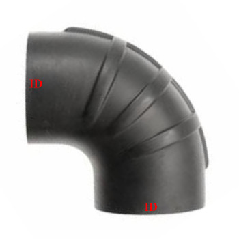"""8"""" x 90 Degree Rubber Air-Intake Elbow 