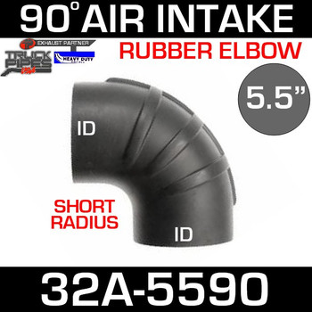 "5.5"" x 90 Degree Short Radius Rubber Air-Intake Elbow 32A-5590"