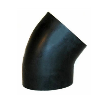 "3.5"" x 45 Degree Rubber Air-Intake Elbow 