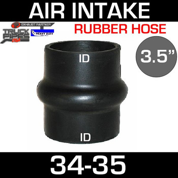 "3.5"" Hump Hose Air-Intake Exhaust 34-35"