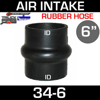 "6"" Hump Hose Air-Intake Exhaust 34-6"