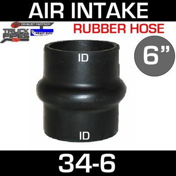 "6"" Hump Hose Air-Intake Exhaust"