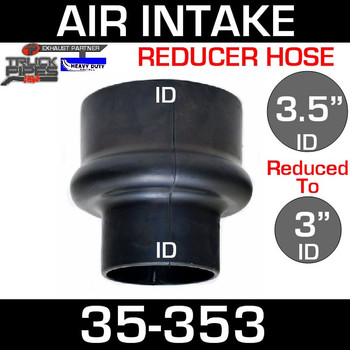 "3.5"" to 3"" Rubber Reducer Hose Air-Intake Exhaust 35-353"