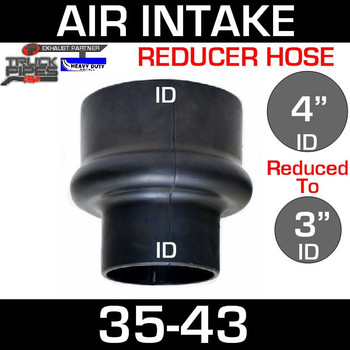 "4"" to 3"" Rubber Reducer Hose Air-Intake Exhaust"