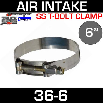"6"" Air Inlet Clamp - T-Bolt Style"