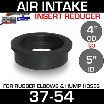 "5"" ID to 4"" Rubber Reducer Insert Sleeve OD 37-54"