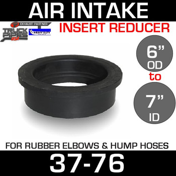 "7"" ID to 6"" Rubber Reducer Insert Sleeve OD 37-76"