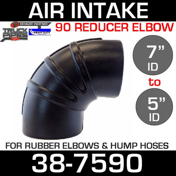 "7"" to 5"" Rubber Reducing 90 Degree Elbow"