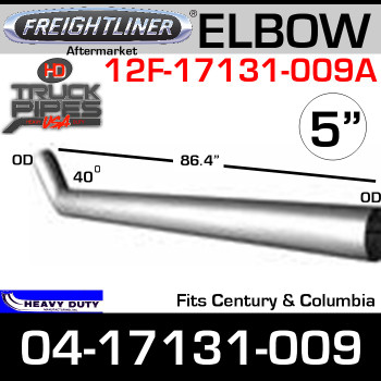 "Freightliner Century/Columbia Steel 86"" Long Exhaust Elbow 04-17131-009"