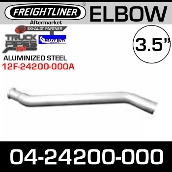 "Freightliner 3.5"" Exhaust Elbow Aluminized A04-24200-000"