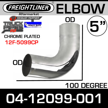 Freightliner Exhaust 100 Degree Chrome Elbow 04-12099-001