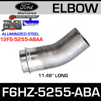 "Ford Replacement Exhaust Pipe 11.49"" F6HZ-5255-ABA"
