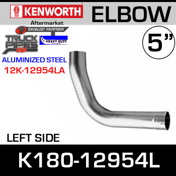 Kenworth Replacement LEFT Side Exhaust Elbow K180-12954L