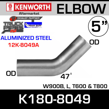 K180-8049 Kenworth 47 Degree Exhaust Elbow 12K-8049A