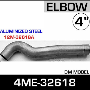 4ME-32618 Mack Aluminized Exhaust Elbow ALZ 12M-32618A