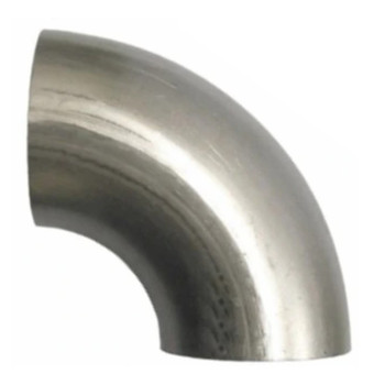 "90 Degree Exhaust Elbow 3"" x 7"" Legs OD-OD Aluminized L300SR"
