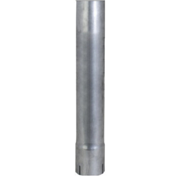 "3.5"" x 24"" Straight Cut Exhaust Pipe ID End Aluminized"
