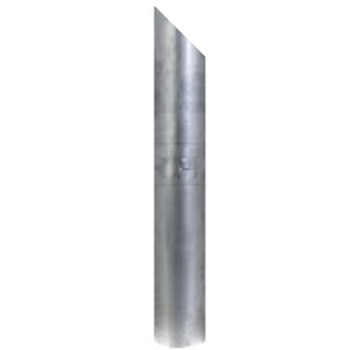 "5"" x 24"" Miter or Angle Cut OD Exhaust Stack Aluminized"