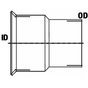 "5"" ID Marmon Turbo Flared Adaptor 5.56"" Lip 45 Degree Aluminized"