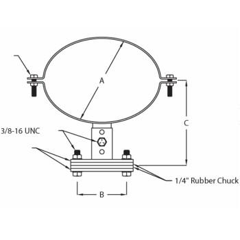 """8"""" x 11"""" Oval Muffler Mount Bracket in Zinc H553"""