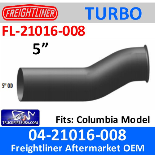 04-21016-008 Freightliner Turbo Exhaust Pipe FL-21016-008
